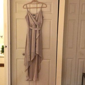 Champagne high-low dress